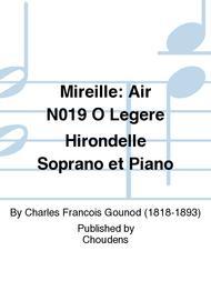 Mireille: Air N019 O Legere Hirondelle Soprano et Piano