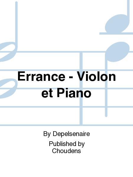 Errance - Violon et Piano