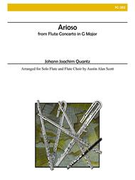 Arioso from Flute Concerto in G major for Flute Choir