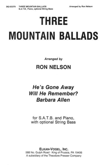 Three Mountain Ballads