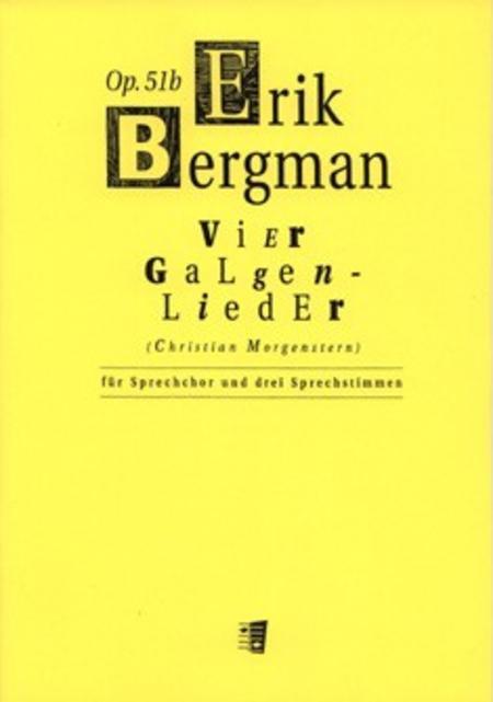 Vier Galgenlieder Op. 51B