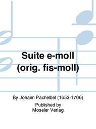 Suite e-moll (orig. fis-moll)