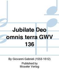 Jubilate Deo omnis terra GWV 136