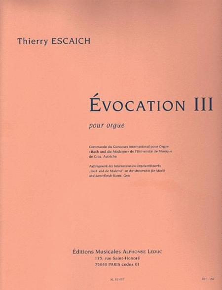 Evocation III - Orgue