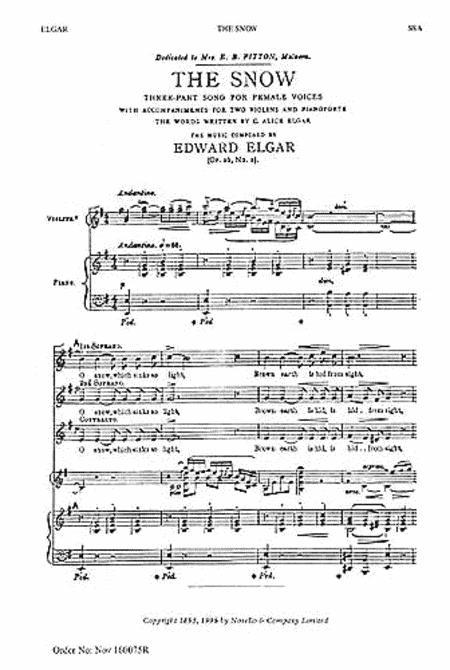 The Snow: Op. 26, No.1