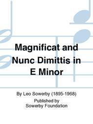 Magnificat And Nunc Dimittis in E Minor
