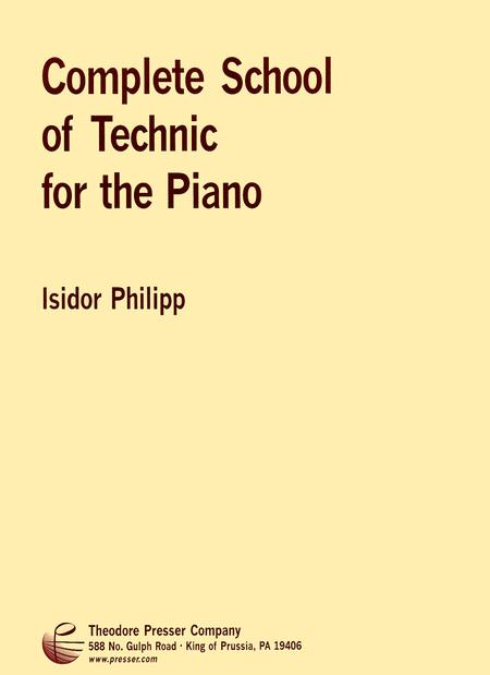 Complete School of Technic For the Piano