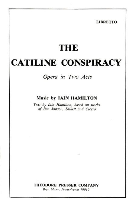 The Catiline Conspiracy