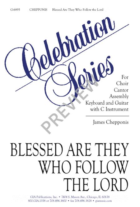 Blessed Are They Who Follow the Lord