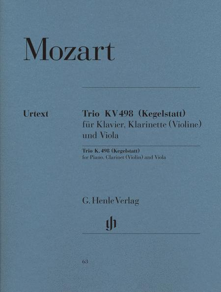 Trio E Flat Major KV498 for Piano, Clarinet (Violin) and Viola - Revised Edition