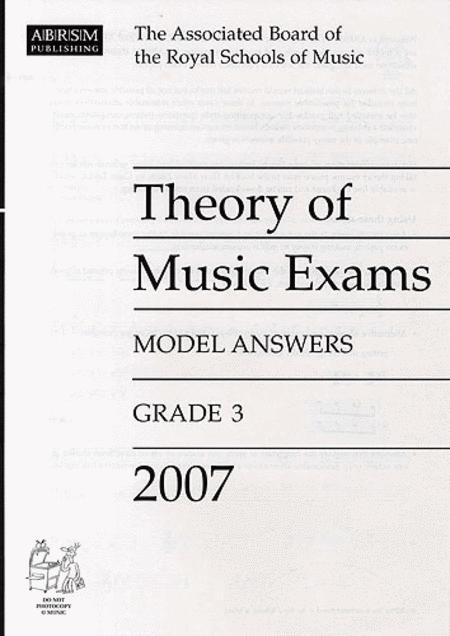 Theory of Music Exams 2007 Model Answers Grade 3