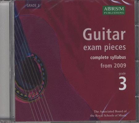 Guitar Exam Pieces 2009 CD, ABRSM Grade 3
