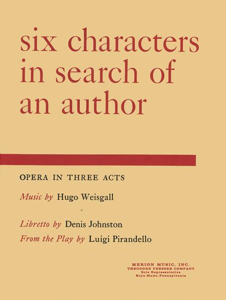 an analysis of the techniques used in pirandellos six characters in search of an author Pirandello, born in sicily in 1867, was a well-known novelist and critic before he achieved international recognition as a playwright his plays include the rules of the game , six characters , henry iv and the man with the flower in his mouth.