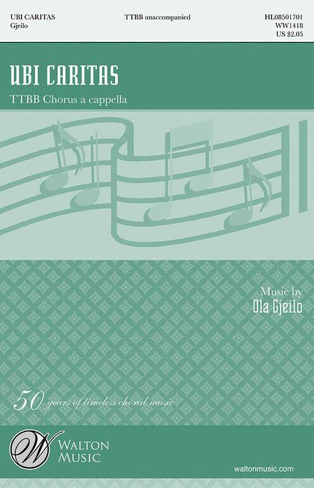 Ubi Caritas Ttbb Sheet Music By Ola Gjeilo Sheet Music Plus