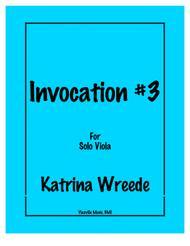 Invocation #3 for viola