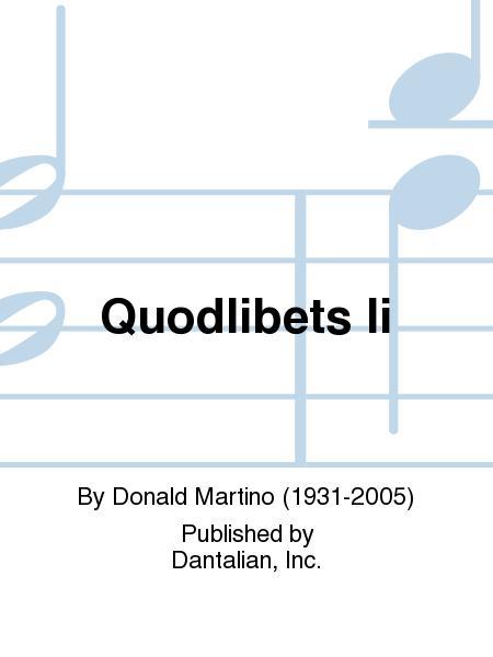 Quodlibets Ii