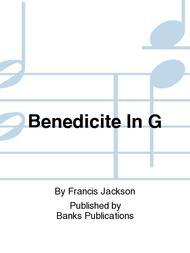 Benedicite In G