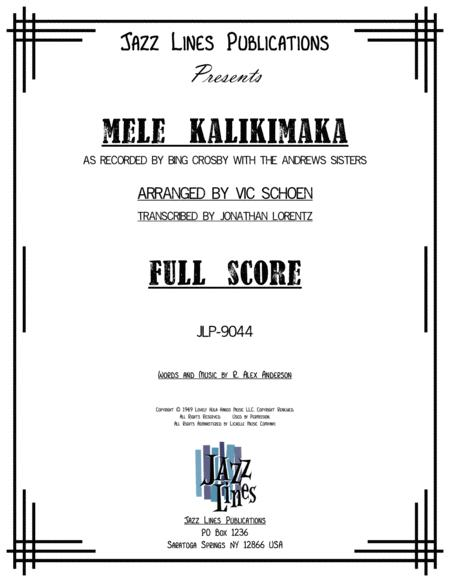 Mele Kalikimaka Sheet Music By Bing Crosby And The Andrews Sisters