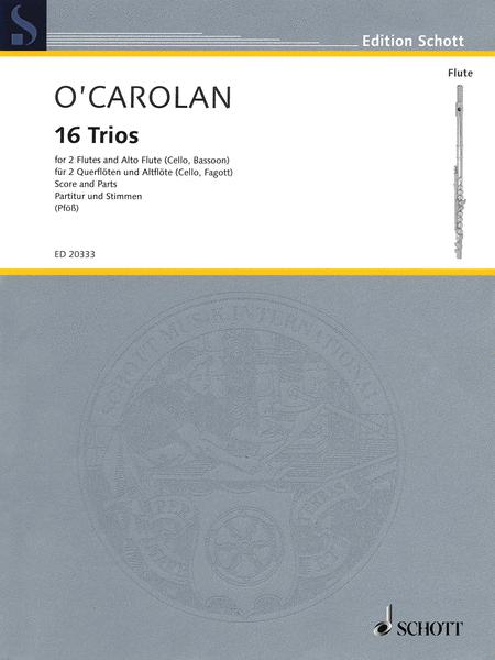 Sixteen (16) Trios For 2 Flutes And Alto Flute