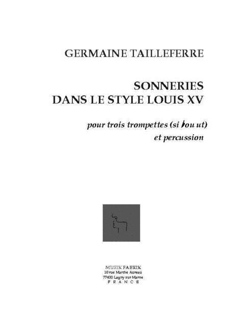 Sonneries dans le Style Louis XV