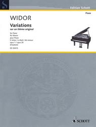 Variations on an Original Theme in E minor, Op. 1