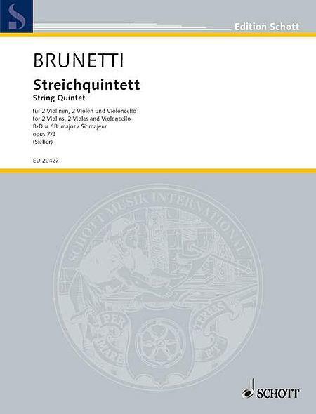 String Quintet B flat major op. 7/3