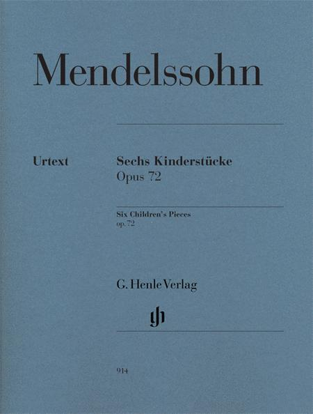 Six Children's Pieces op. 72