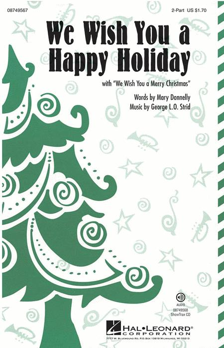 We Wish You a Happy Holiday - ShowTrax CD