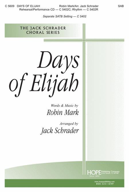 Days Of Elijah Sheet Music By Robin Mark - Sheet Music Plus