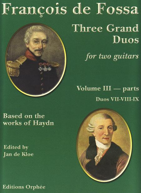 Three Grand Duos for two guitars