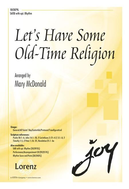 Let's Have Some Old-Time Religion