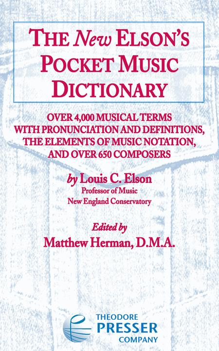 The New Elson's Pocket Music Dictionary