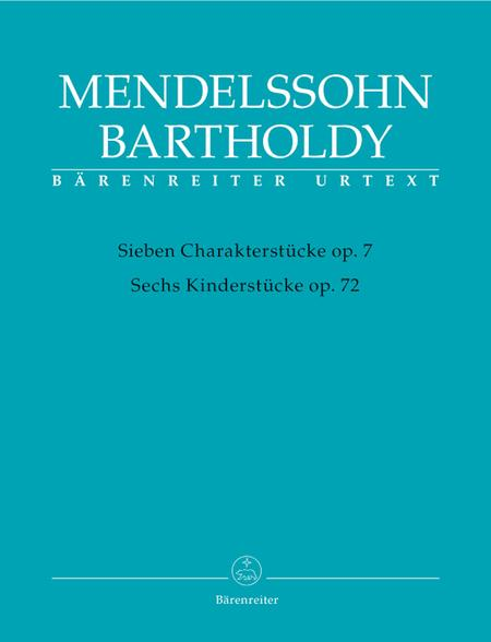Seven Character Pieces, op. 7 / Six Children's Pieces, op. 72