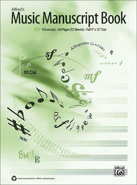 Alfred's Music Manuscript Book