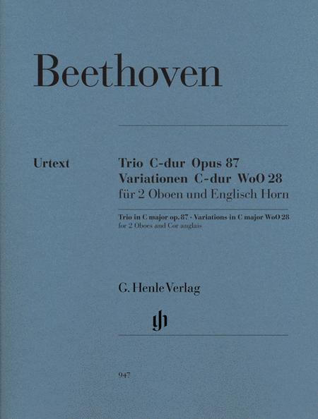 Trio in C Major, Op. 87/Variations in C Major, WoO 28