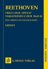 Trio In C Major Op. 87, Variations In C Major Woo28 For 2 Oboes And English Horn