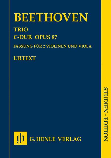 Trio in C major op. 87