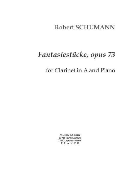 Fantasiestucke, Opus 73