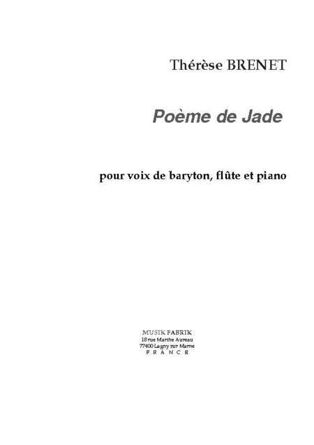 Poeme de Jade