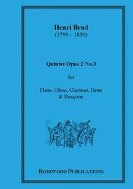 Wind Quintet, Op. 2, No. 3