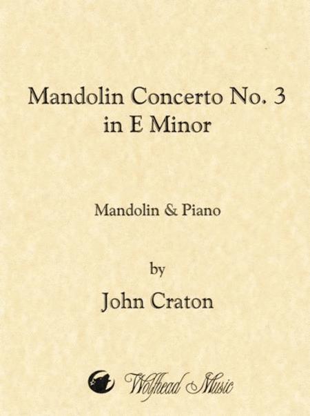 Mandolin Concerto No. 3 in E Minor