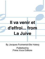 Il Va Venir Et D'effroi    From La Juive Sheet Music By