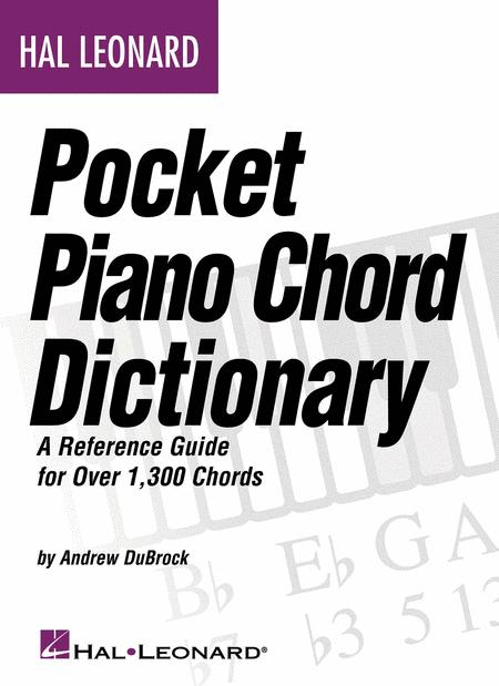 Hal Leonard Pocket Piano Chord Dictionary Sheet Music By Andrew