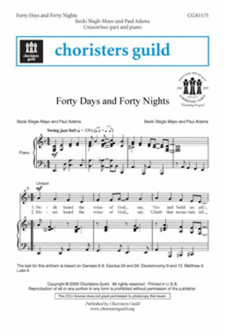 Forty Days And Forty Nights Sheet Music By Becki Slagle Mayo Sheet
