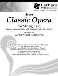 Classic Opera for String Trio - Score