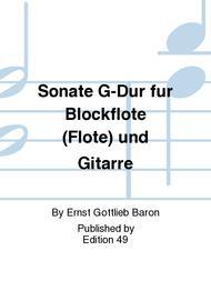 Sonate G-Dur fur Blockflote (Flote) und Gitarre
