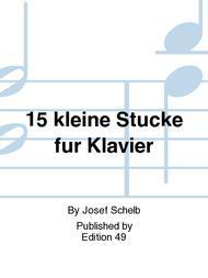 15 kleine Stucke fur Klavier