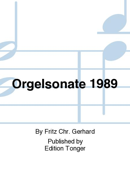 Orgelsonate 1989