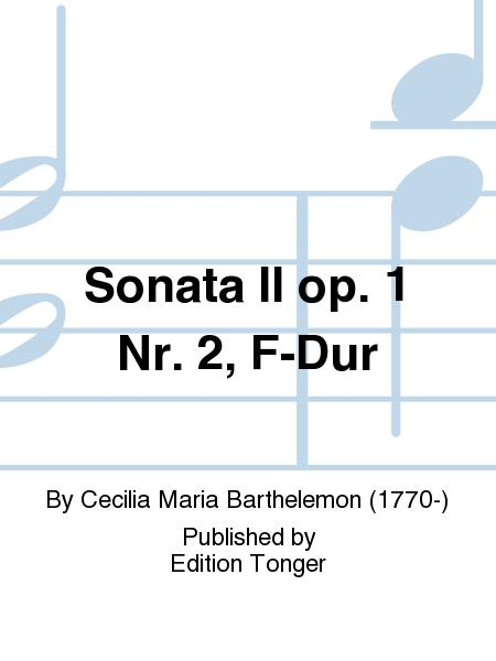 Sonata II op. 1 Nr. 2, F-Dur