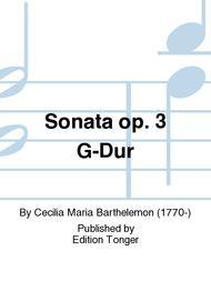 Sonata op. 3 G-Dur